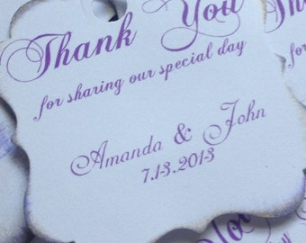 Wedding thank you Personalized Tags / Gift Tags / Thank you Tags / Cupcake Toppers