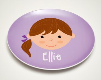 Personalized Children's Plate - Girl or Boy Face