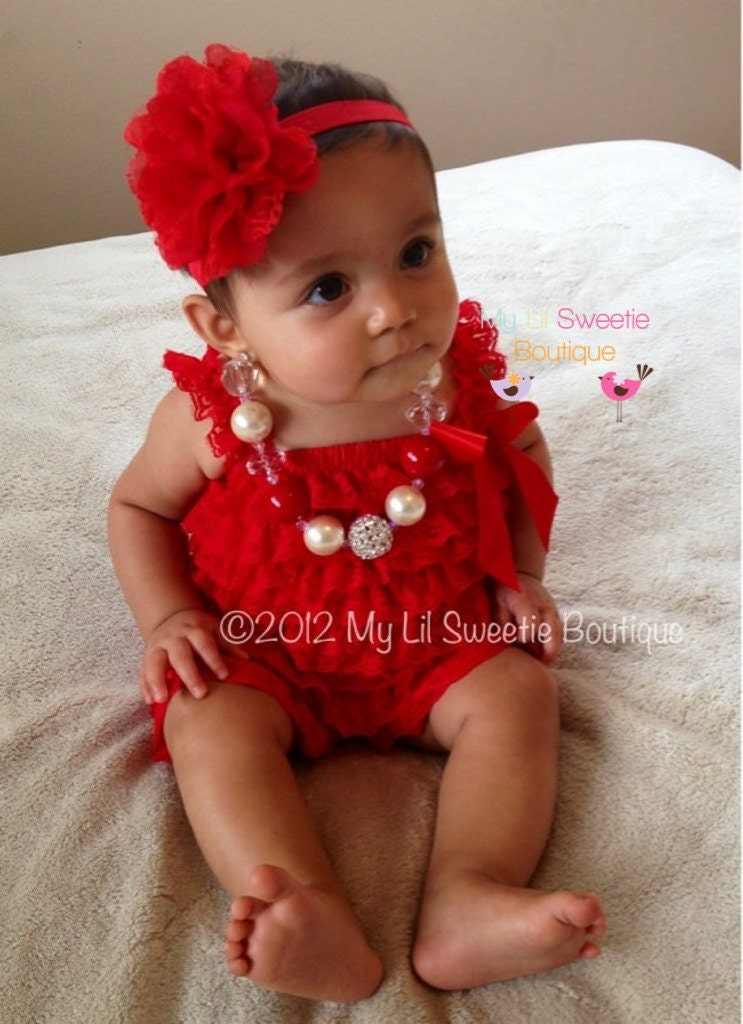 Red lace romper Red Vintage style Lace by MyLilSweetieBoutique