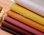 """27"""" x 18"""" Faux Leather Fabric,Soft Semi-Pu Leather In Thin Lychee Skin Faux Leather Fabric,Soft Leather For Upholster,Bags Craft"""
