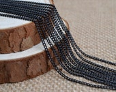 16ft of 2.7x2mm Oval Link,Black Cable Chain,Iron Cross Chain,Small Chains--Unsoldered,Nickel and Lead Free