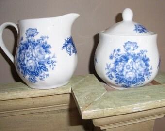 Antique Reflections by J. Godinger & Co. Porcelain Creamer and Sugar Set