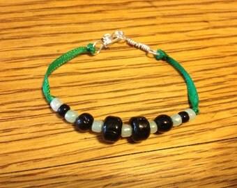 Child's Beaded Ribbon Bracelet