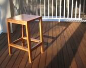 Handmade modern wood kitchen stool - Otto Woodwork