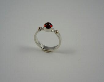 Garnet Bullet Ring