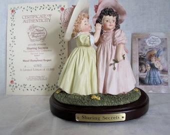 Maud Humphrey Bogart Figurine Sharing Secrets Girls Whispering    Has Original Box
