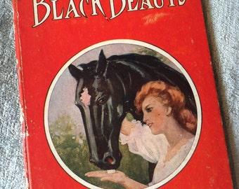 BLACK BEAUTY Antique collectible children's book - 1908
