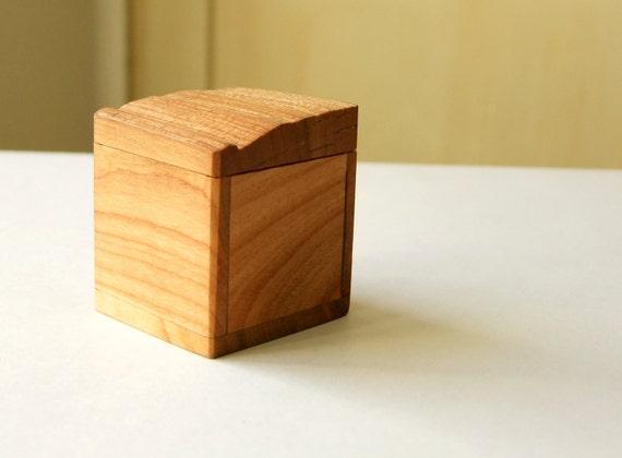Wooden Box Tooth Box Ring Box Oak Wood Jewelry Box Gift Box Natural Wood Ecological Box