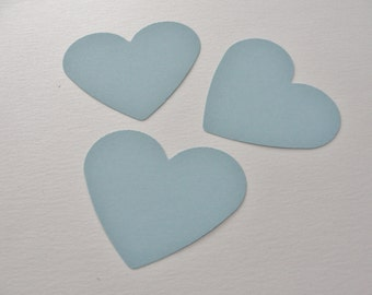 Light Blue Paper Heart Tags Light Blue Wedding Wish Hearts Paper Cut Outs Die Cuts Wedding Shower Heart Decorations Tags Set of 50