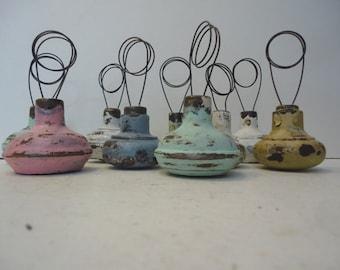 Wedding Table Number Holder Vintage Doorknob Cottage Chic Decor