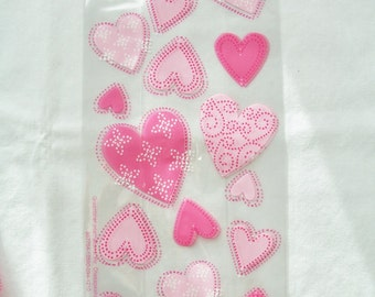 75 Pink heart treat bags - heart party favour bags - goody bags - loot bags - birthday/wedding/engagement party favours - heart treat bags