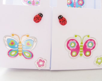 16 Butterfly/ladybug party favour boxes - gift boxes - birthday/baby shower party favours - kid's party favours - butterflies/ladybugs