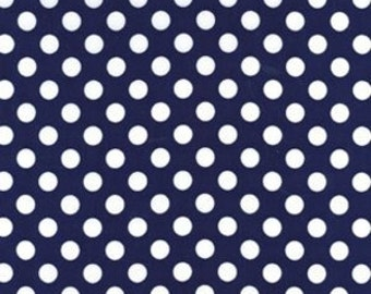 SALE 1/2 Yard Michael Miller Ta Dot in Indigo
