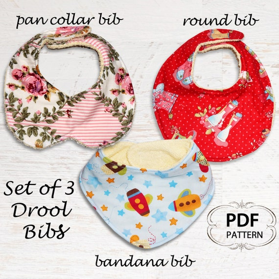 Baby sewing pattern for bibs pdf sewing pattern bandana bib baby
