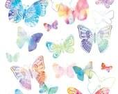Watercolor Butterflies Clip Art, Butterfly Clip Art, Watercolor Clip Art, Butterflies Clip Art, Painted Butterflies Clip Art
