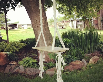 Tree Swing // Macrame Swing