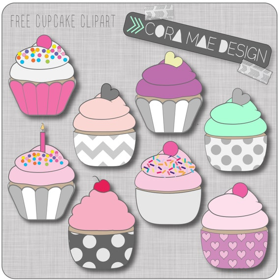 Cupcake Clipart no Background Cupcake Clipart Instant