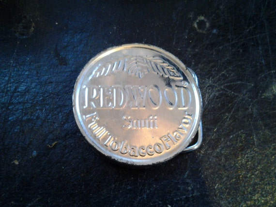 Special Order Redwood Snuff Buckle For Peter Mundt, FREE SHIPPING.