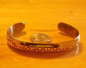 Sale Vintage Brass Cuff Bracelet