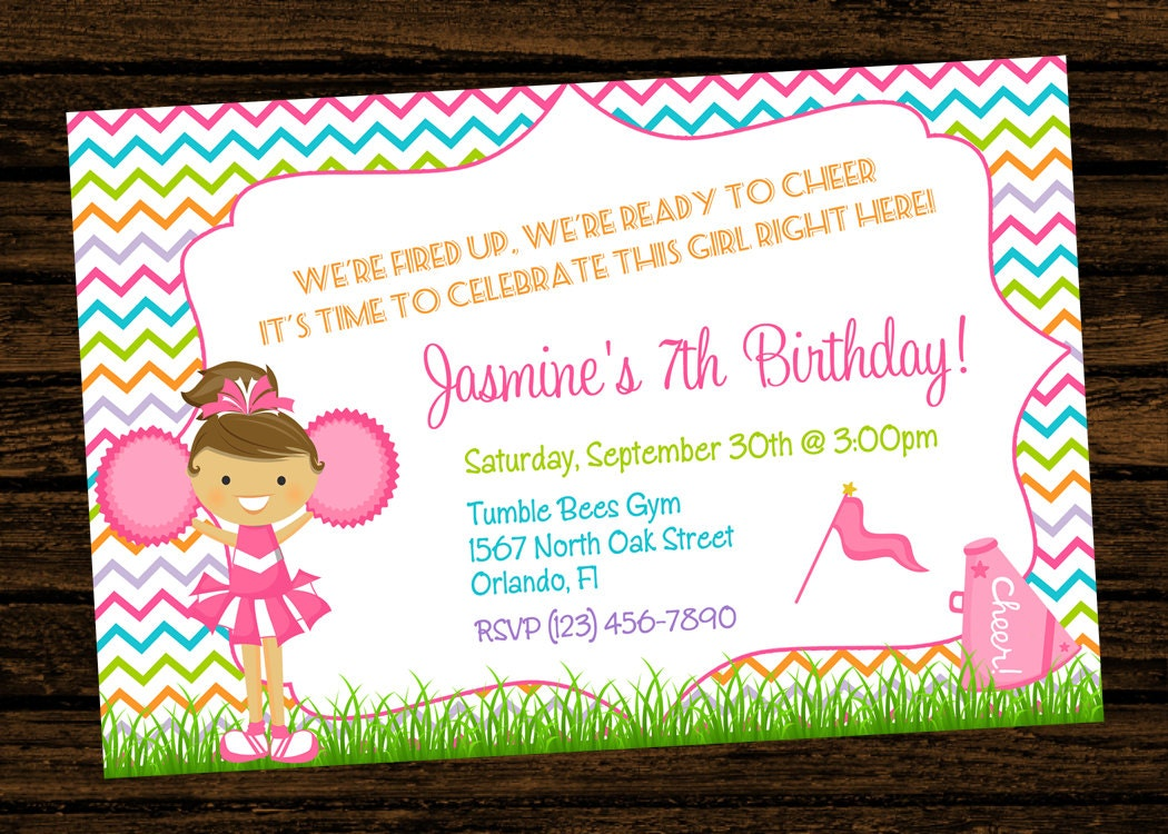 Cheerleading Invitations – Cheerleading Party Invitations