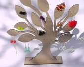 wooden tree earring jewellery stand laser cut in 3mm mdf
