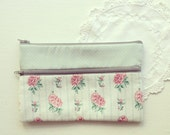 Vintage Mint and Rose Purse