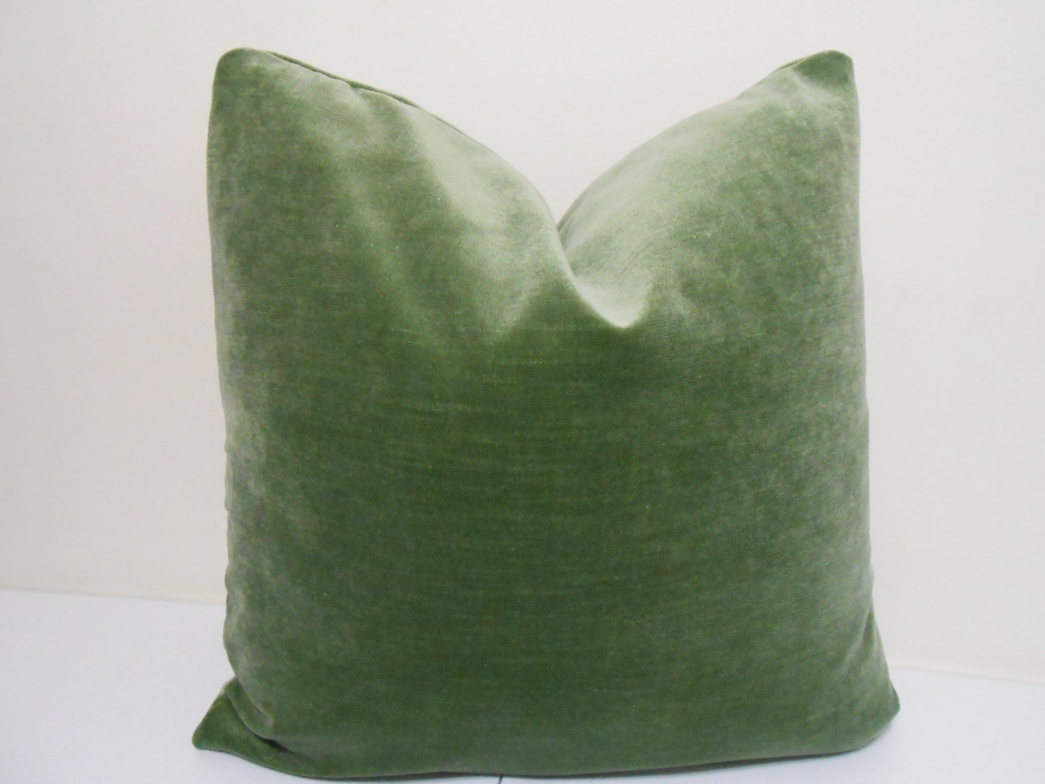 Sage Green Velvet Pillow Cover J P Martin Velvet Decorative