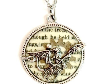 Game of Thrones Dragon Necklace antique silver Handmade Gift