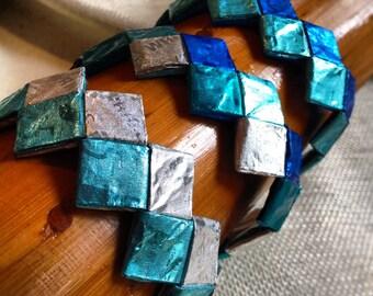Gum Wrapper Bracelet - Wrapper Bracelet - 5 Gum - Recycled - Upcycled - Metallic