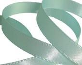 baby blue satin ribbon 9mm Berties Bows double faced 5 metres