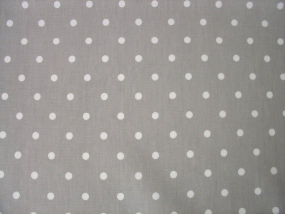 0 5 yard oilcloth laminated cotton tablecloth white dots on. Black Bedroom Furniture Sets. Home Design Ideas