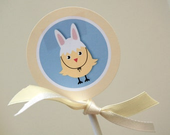 Easter -  Cupcake Toppers / Party Circles - Printable - psDre Party Printables