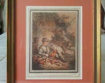 Pair of 18th Century French Antique Engravings (Gravures)