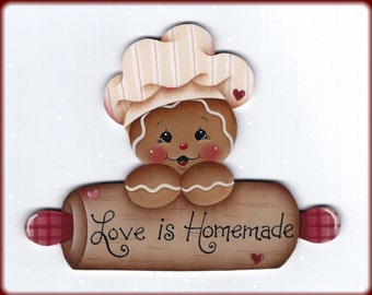 Love is Homemade Gingerbread Painting E-Pattern