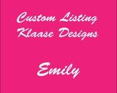 Custom Listing for Emily (Shipping)