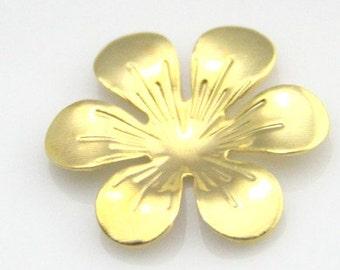 24 pcs of iron filigree flower 25mm-1584-gold