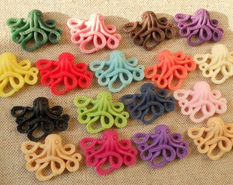 12 pcs of  resin  octopus cabochon 20x25mm-RC0105- you can choose the color