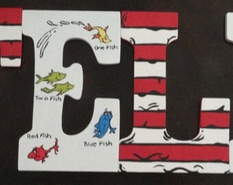 9 customized hand painted letters dr suess theme
