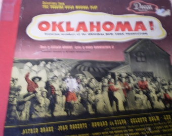 1943 Broadway Hit Oklahoma Musical Songs by Rodgers and Hammerstein II Decca Records
