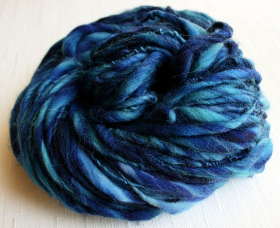 SALE: Handspun YarnThick and Thin Yarn Merino Art Yarn