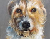 Custom pet portrait in acrylics on a stretched canvas 12 x10 inches from own photos