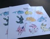 Eeveelution Sticker Sheet