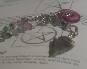Fluorite Pendulum with Arrowhead
