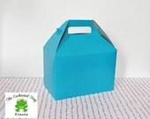 30 Aqua Blue Favor Boxes, Lunch Box, Picnic Box, Party Box, Candy Box