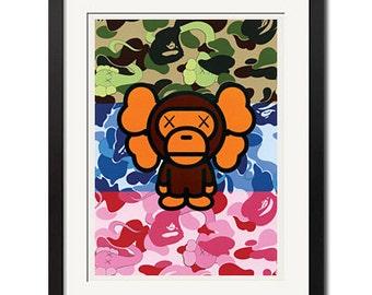 A Bathing Ape In Lukewarm Water Baby Milo Bape Poster Print