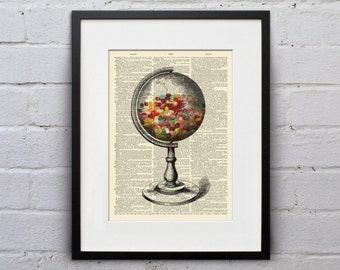 It's A Sweet World - A Bit of Merriment Dictionary Page Book Art Print - DPMM006