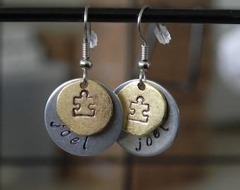 Personalized dual tone earrings
