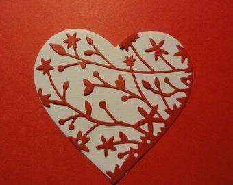 Valentine Heart Die cuts Set of 8