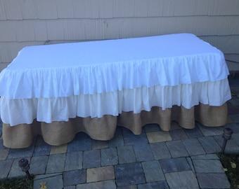 Burlap Tablecloth Etsy