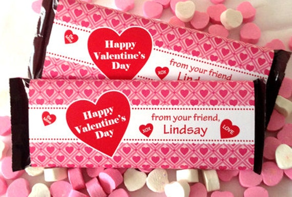 Items similar to valentine candy bar wrapper printable for Valentine candy bar wrapper templates